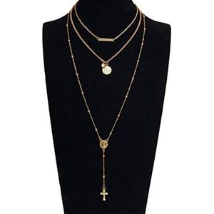 Jewelry - Layered Rosary Necklace
